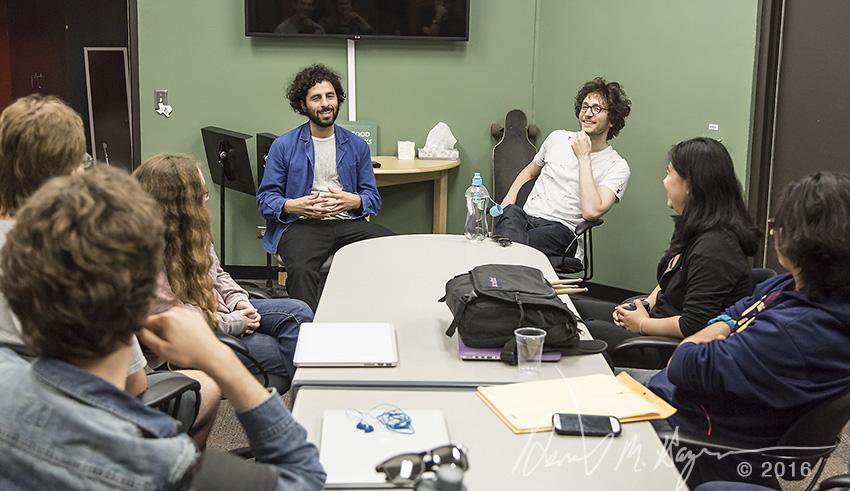 UCSB Arts & Lectures - José Gonzales & Rob Moose seminar 3/10/16 Music Dept. Kerr Studio