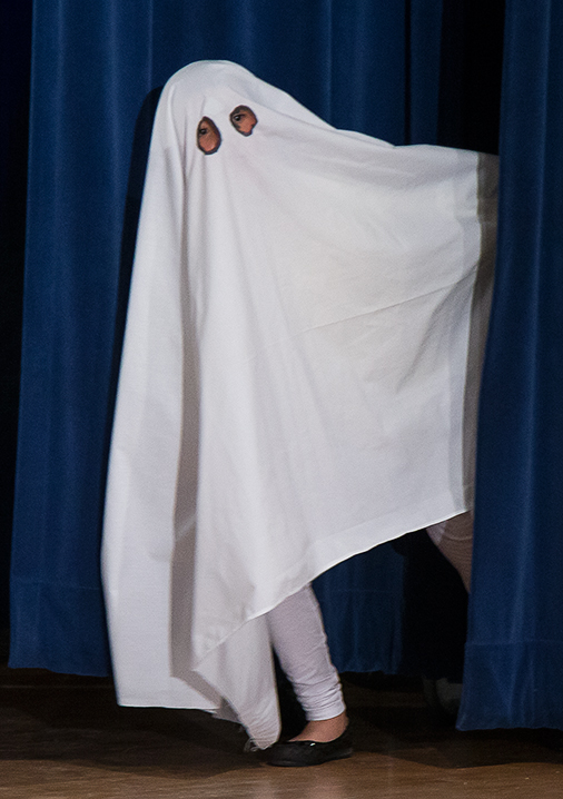 "Upstarts Youth Theater's ""Ghostbusted"" - ghost sighting! 3/16/16 Peabody Charter School © David Bazemore"
