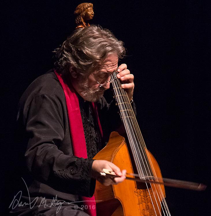 Jordi Savall and his 7 string bass viol 3/1/16 Lobero Theatre