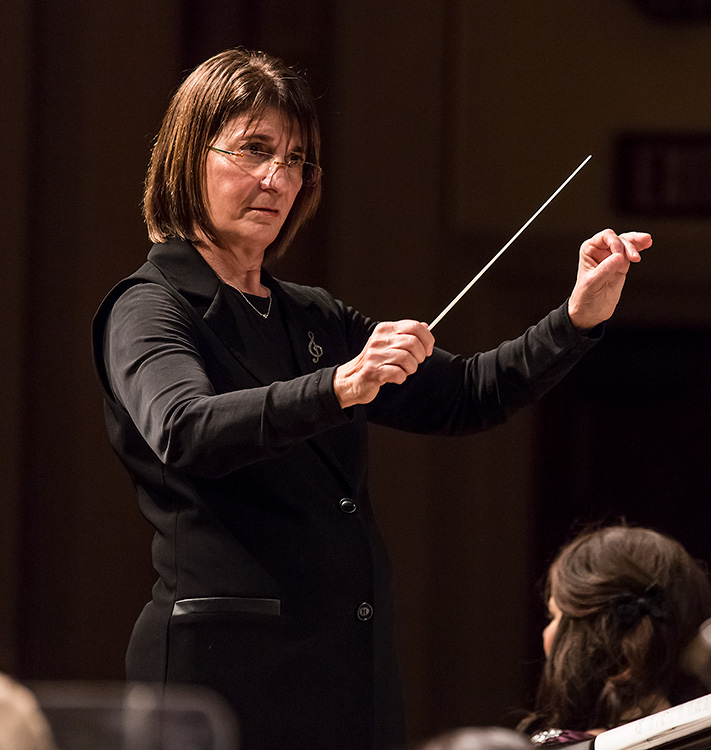 "JoAnne Wasserman conducting Santa Barbara Choral Society - Handel's ""Messiah"" 3/19/16 Hahn Hall © David Bazemore"
