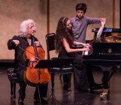 CAMA Santa Barbara - Misha Maisky accompanied by Lily ably assisted by her 1/2 brother Maxim 5/12/16 Lobero Theatre