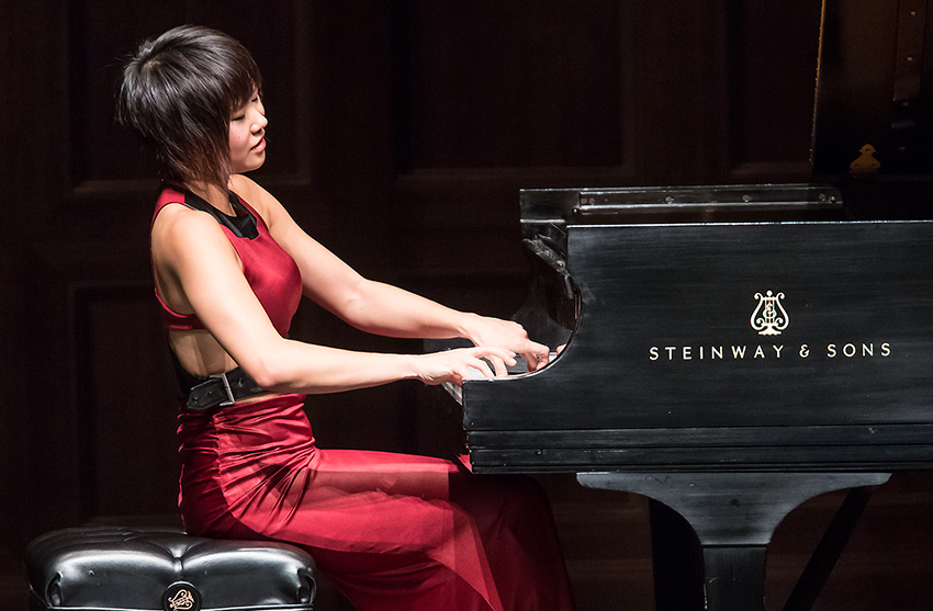 UCSB Arts & Lectures presented Yuja Wang at the Granada Theatre 5/2/16