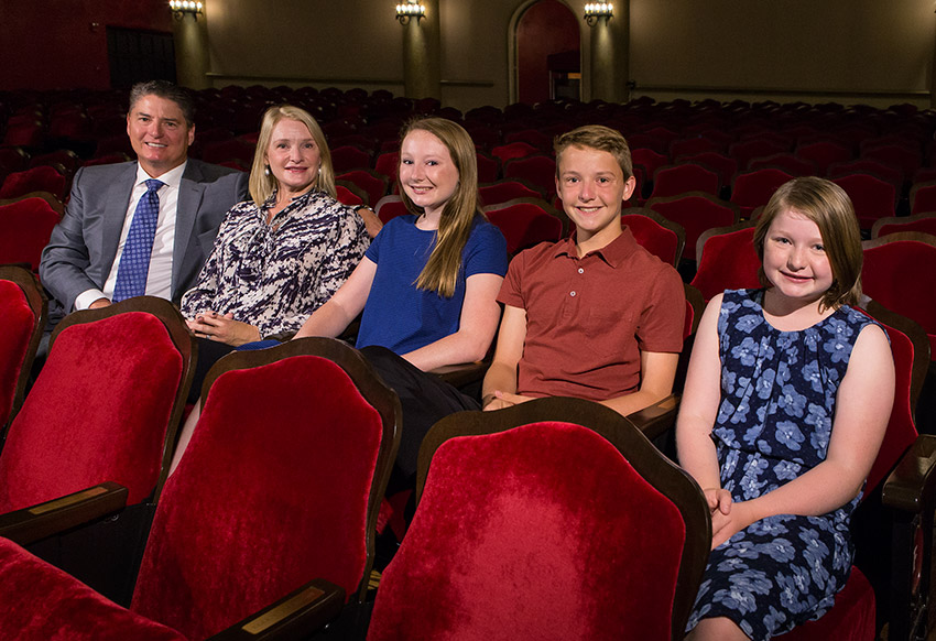 Jim Morouse and lovely family in their personalized seats at the Lobero Theatre 6/16/16