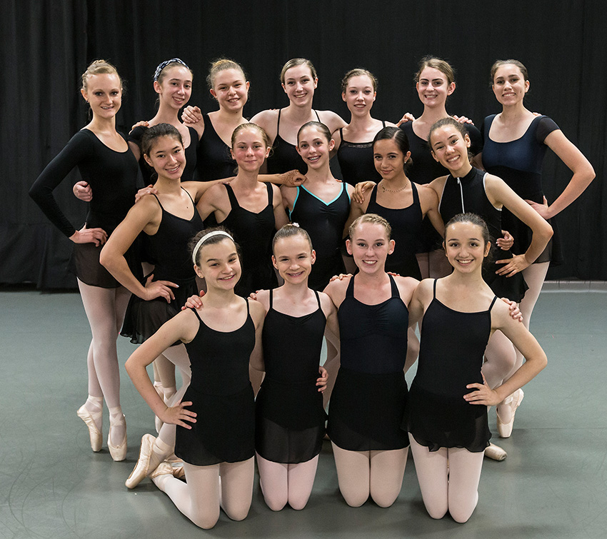 A happy group of State Street Ballet Summer Intensive participants 6/29/16 Gail Towbes Center for Dance