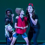 The cat and the fox attempt to lead Pinocchio astray - Boxtales Theatre Co. Summer Camp 7/21/16 Marjorie Luke Theatre