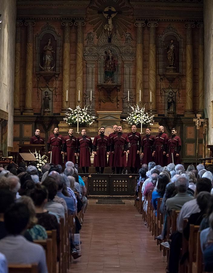 Photo of Ensemble Basiani at the Old Mission Santa Barbara