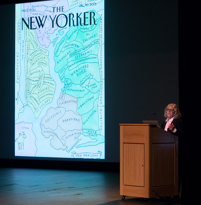 "Illustrator Maira Kalman and ""New Yorker"" cover art - UCSB Arts & Lectures 10/24/16 Campbell Hall"
