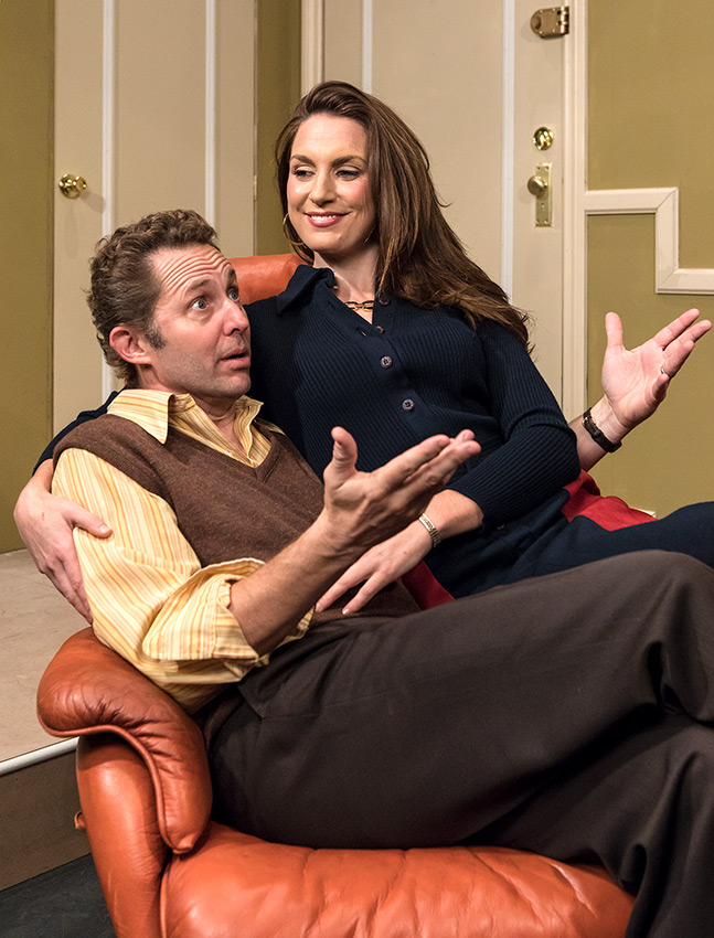 Todd Weeks as George Schneider & Caroline Kingsolving as Jennie Malone - Ensemble Theatre Co. 11/20/16 New Vic Theatre