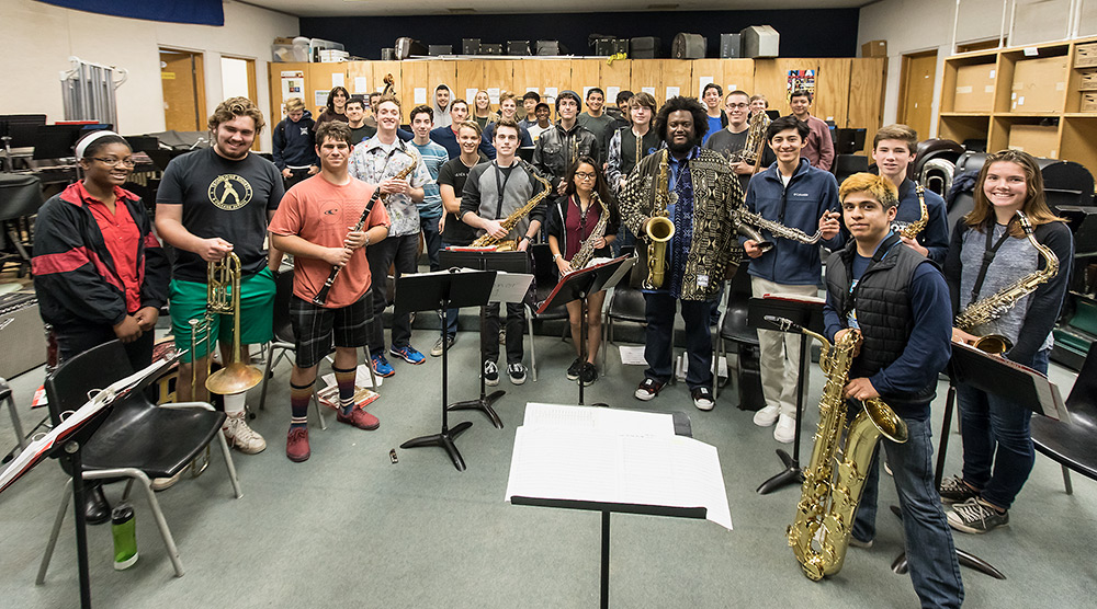Kamasi Washington Jazz clinic with students of Dos Pueblos High - UCSB Arts & Lectures 2/16/17 Dos Pueblos High School