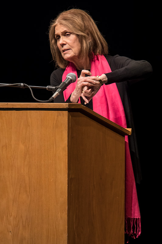 Gloria Steinem makes a timely point - UCSB Arts & Lectures 3/2/17 The Arlington Theatre