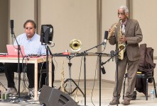 George Lewis and Roscoe Mitchell at the Ojai Music Festival 6/11/207