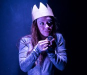 Lit Moon Theatre Company - actress Marie Ponce-DeLeon as Richard III 3/7/17 Westmont College
