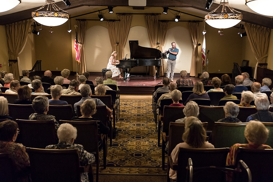 Bridget Hough and Adrian Spence performing at Mountain Hall