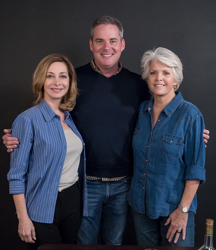 "Sharon Lawrence and Meredith Baxter with Director Cameron Watson - Ensemble Theatre Co. ""The City of Conversation"" rehearsal"